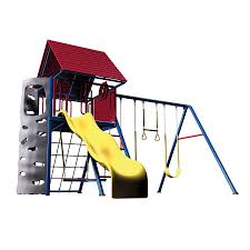 shop lifetime products a frame playset metal playset with swings