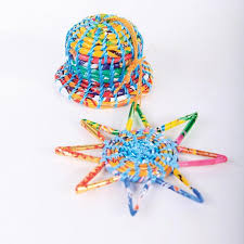 siesta crafts multicoloured recycled decorations fairtrade each