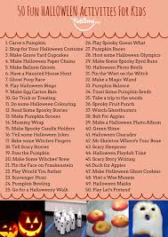 50 fun halloween activities for kids checklist