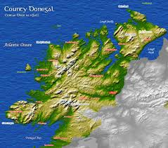 map of county donegal ireland donegal pinterest donegal and