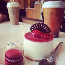 crush on you mousse cake with red velvet macaron and birthday cake