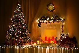 merry christmas mass beautiful tree lights decoration eve idea