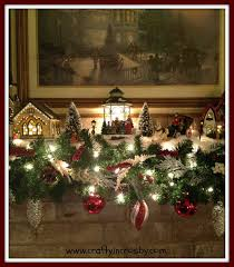 christmas mantel snow village christmas village garland these
