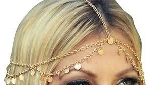 chain headpiece gold drape coin headpiece headdress jewelry 2016 jewelry trend