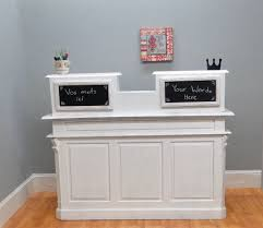 Reception Desk White by Store Counter Antique French Old Restaurant Desk Reception Cottage