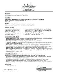 mechanic resume template mechanic resume template auto technician description