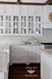 glass cabinets in white kitchen the best kitchen styling tip cedar hill farmhouse