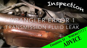 jeep wrangler manual transmission fluid jeep wrangler yj transmission fluid leak ep 1