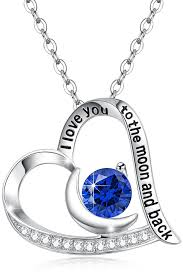 sapphire chain necklace images Blue sapphire birthstone september heart pendant necklace sterling jpg