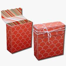 bits of paper flap decorative gift boxes
