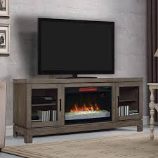 Tv Stands With Electric Fireplace Berkeley Infrared Electric Fireplace Tv Stand W Glass In