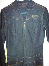 jean one jumpsuit v neck collar one sleeve zip up denim blue jean catsuit