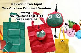 membuat iklan tas buat souvenir tas lipat tas custom promosi seminar barang