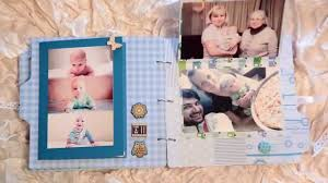 baby boy photo album handmade scrapbook album baby boy 6 months