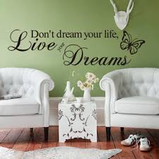 popular wall mural quote buy cheap wall mural quote lots from new lovely removable don t dream your life butterfly pvc wall mural wall sticker quote