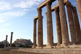 see the temple of olympian zeus in athens greece