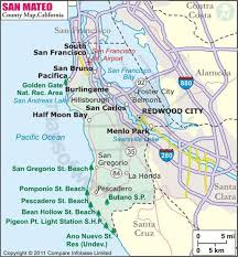 usa california map map of sanmateo county in california state of usa showing the