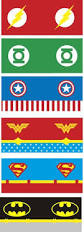 free superhero party printables including