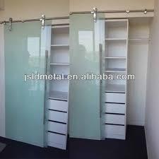 Tempered Glass Closet Doors Frosted Tempered Glass Cabinet Sliding Closet Door Wardrobe