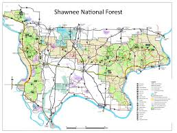 Illinois Road Map by River To River Trail Hike Shawnee National Forest Maps Guide