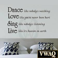 dance like nobody s watching quote inspirational wall zoom