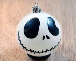 nightmare before skellington ornament side smile