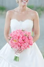 bridal bouquet ideas pink wedding ideas bright pink peonies bridal bouquet deer