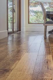 custom scraped hickory floor in cupertino