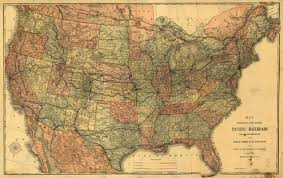 map of the united states historical map of the united states pacific railroad map 1883