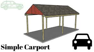carport design plans free simple carport plans youtube