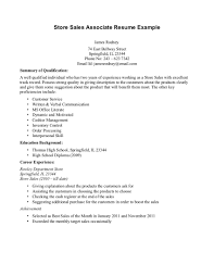 cover letter resume examples for retail objective for resume