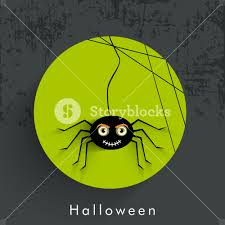 background for halloween banner or background for halloween party night with spidernet on