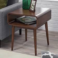 Amazon Com Belham Living Carter Mid Century Modern Side Table