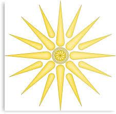 vergina sun metal prints by wtafro redbubble