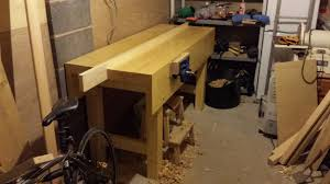Work Bench With Vice Workbench Build Part 8 U2013 Fitting The Vice And Jaw Liners