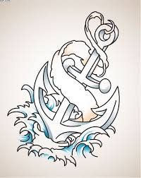 latest colored anchor and waves tattoo design tattooshunter com