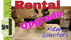 diy rental apt upgrade counter tops youtube
