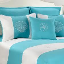Seashell Duvet Cover Victor Mill Shell Island Turquoise Comforter Or Duvet Cover Bed Set