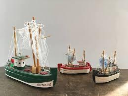 Nautical Home Decorations Vintage Ship Model Tiny Ship Nautical Home Decor Small Wooden
