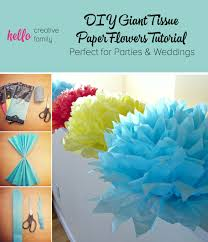 tutorial how to diy tissue paper flowers hello