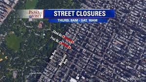 Nyc Traffic Map Check The List Of Nyc Street Closures For The Visit Of Pope