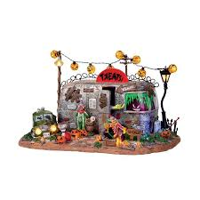 halloween figurines lori mitchell lemax halloween killer clown mobile home trailer with scary