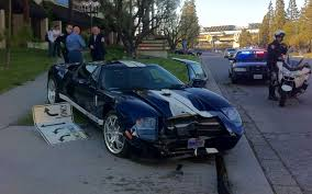 crashed subaru wrx police blotter ford gt crashes into motor trend hq