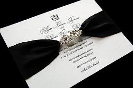 black tie letterpress with crystal closure 2067145 weddbook