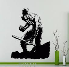 teen decor promotion shop for promotional teen decor on aliexpress com casey jones wall sticker turtles mutant ninja vinyl decal home interior decoration teen room art black mural