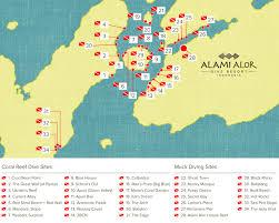 Map Of Coral Reefs Coral Reef Diving Alami Alor Dive Resort