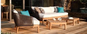 Sofa Wood Frame Wicker Sofa With Teak Wood Frame
