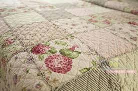 Quilted Cotton Coverlet Purple Floral Patchwork Bedding Floral Patchwork Blanket Chausub