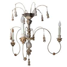 Italian Wood Chandelier Italian Wood Carved Gilt Spider Chandelier Made With 18th Century