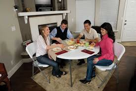 how many does a 48 inch round table seat amazon com lifetime 280064 commercial fold in half round table 4